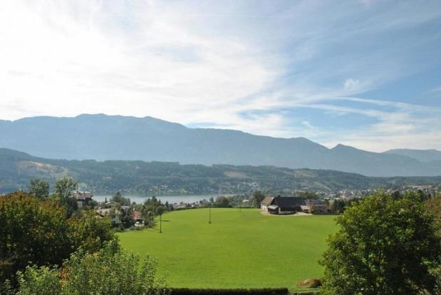 View to Lake Millstatt and Goldeck mountain range