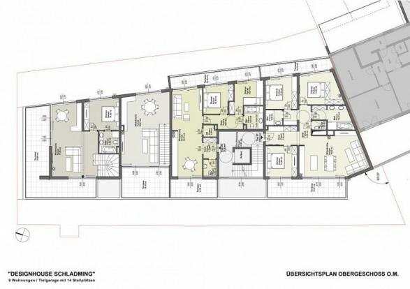 Floor plan of the apartments