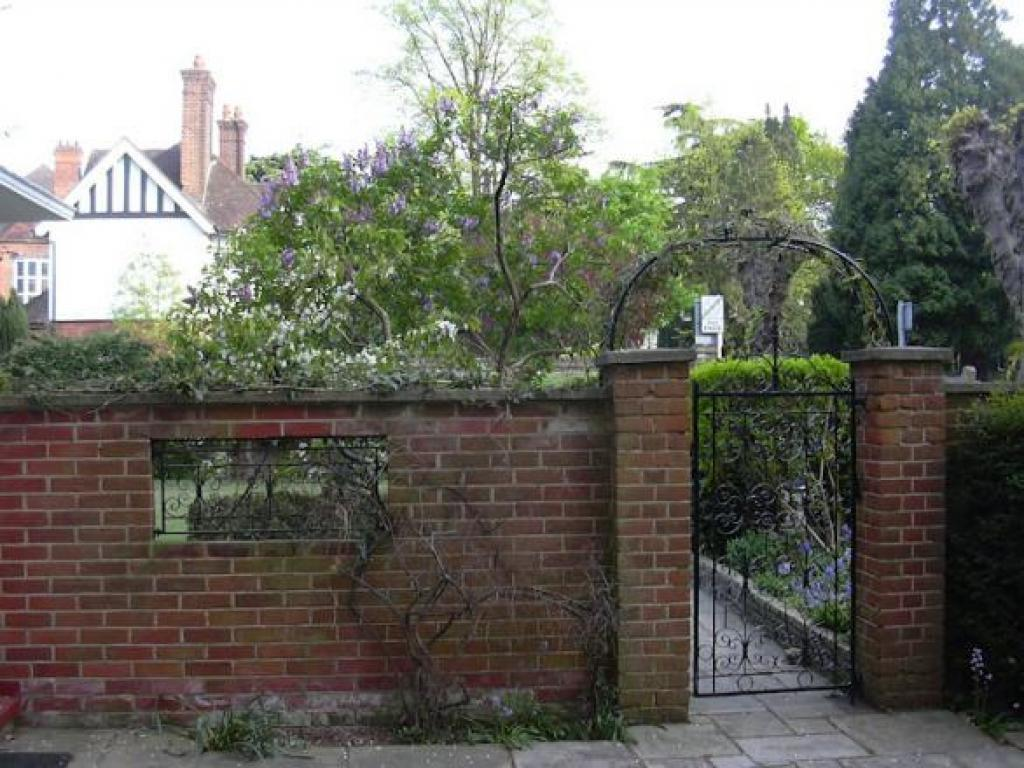 Entrance to secluded rear garden is right next to