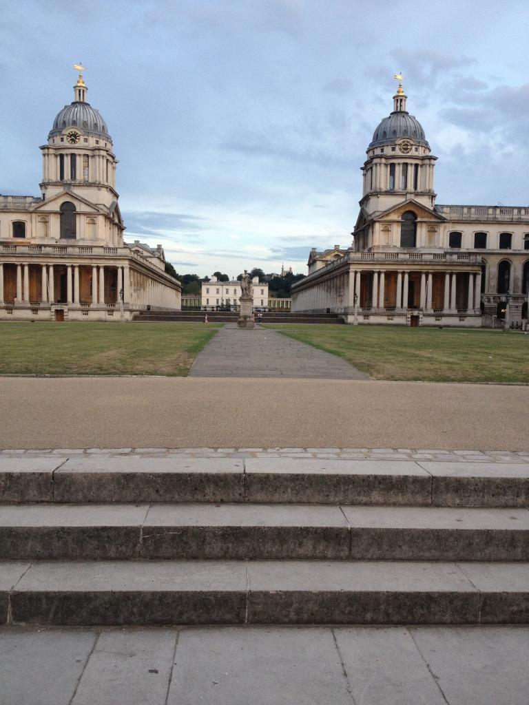 The Royal Naval College next door to the flat