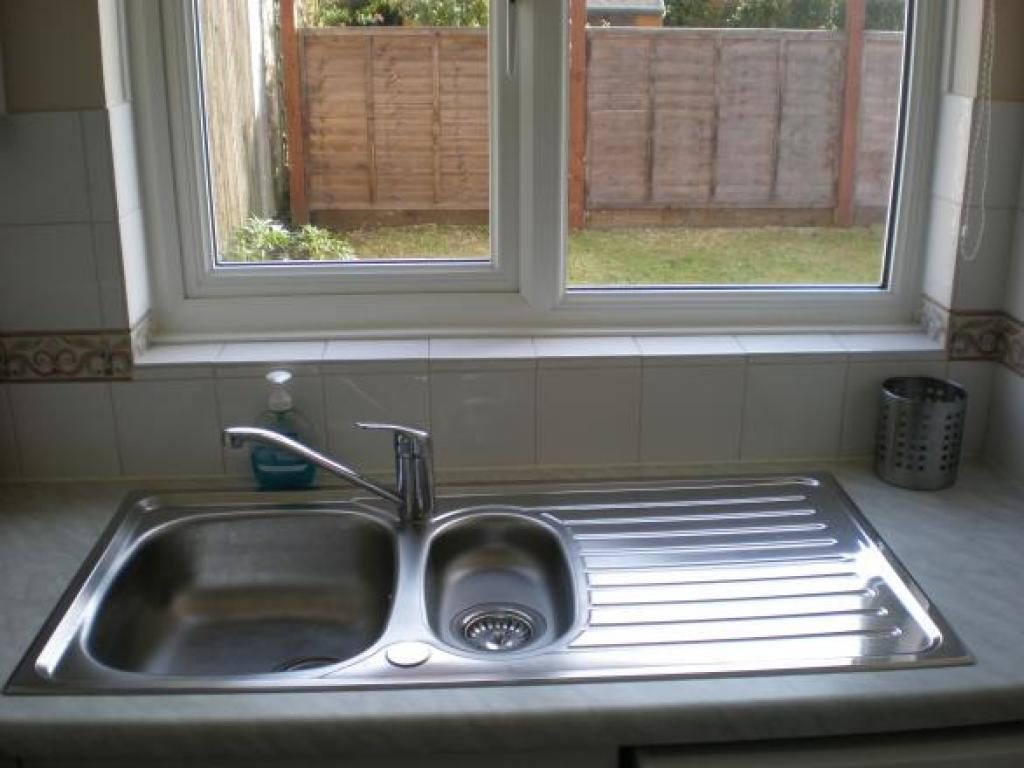 Kitchen window overlooking garden