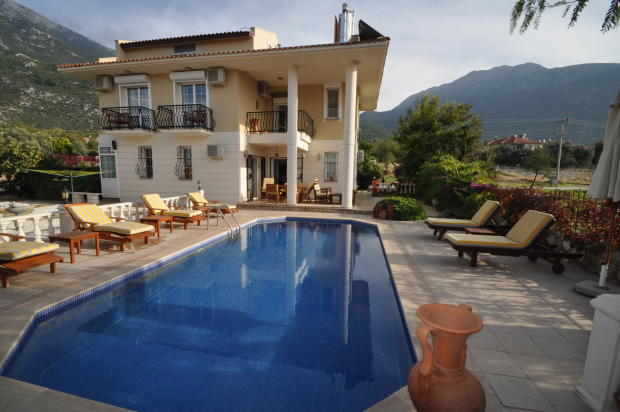 Pool view of villa