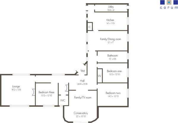 3 bedroom detached bungalow for sale in 10 victoria park for L shaped house plans uk