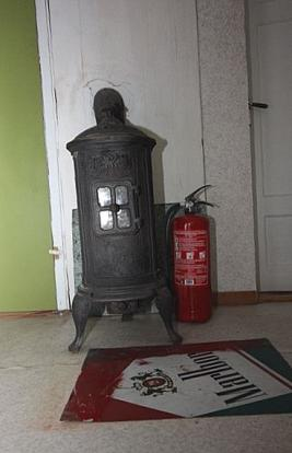 Stove in the bedroom