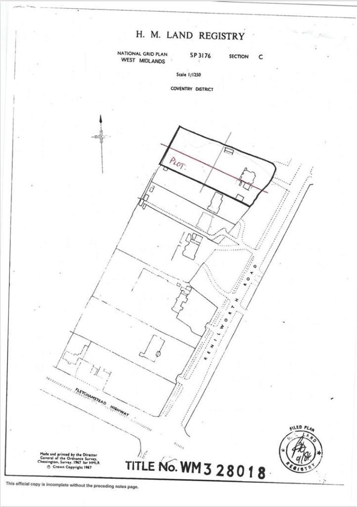 Kenilworth Road Plan