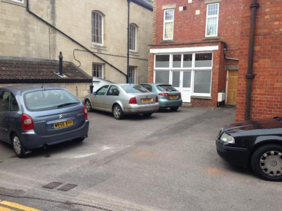 Rear car parking
