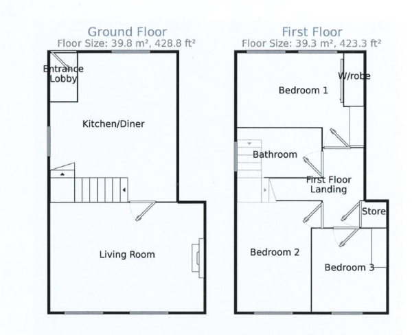 Back green floorplan