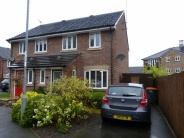 semi detached house in Crocus Close...
