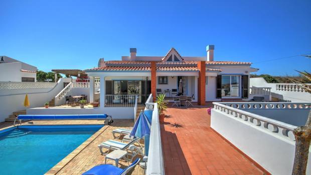 Upper part of the villa & pool