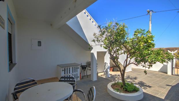 Lower terrace & parking