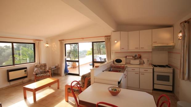 open-plan kitchen, lounge and terrace apartment 3