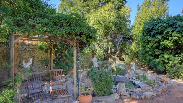 secluded spot in garden