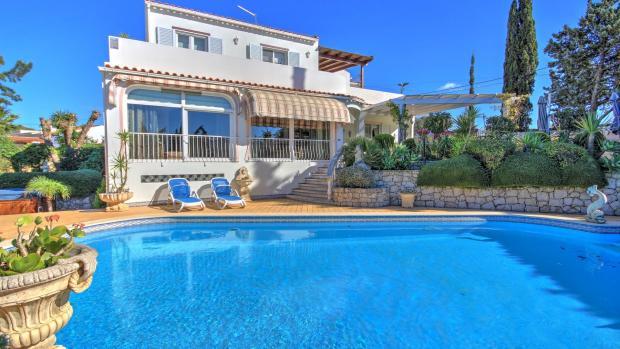 pool area & house