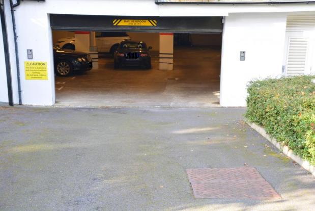 Underground garage entrance