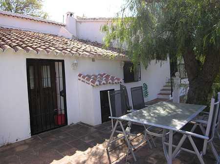 Shaded terrace