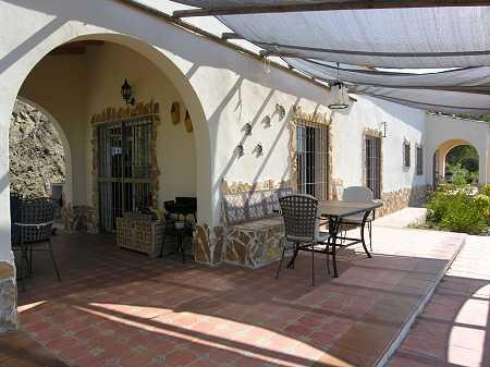 Covered terrace