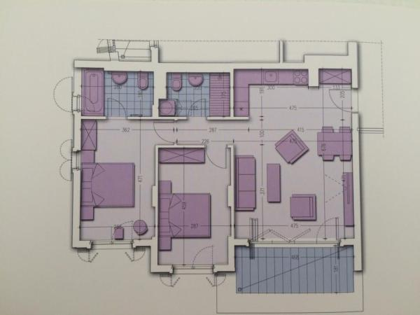 2 bed floorplan
