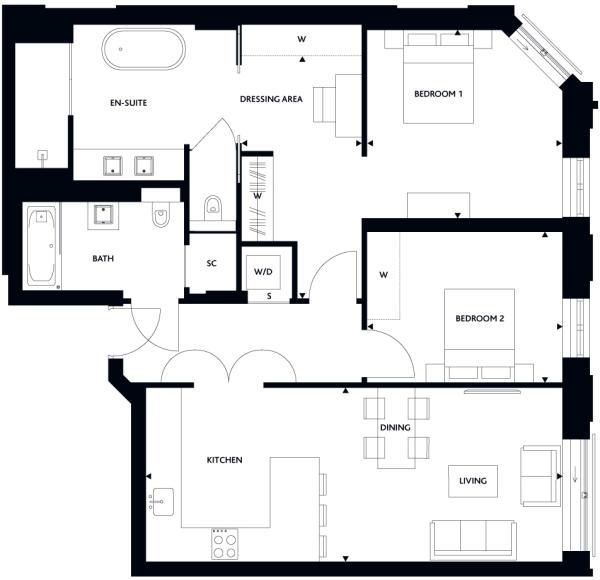 Floorplan Apt 22