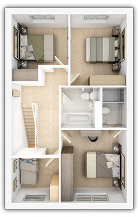 Taylor Wimpey - The Midford - 4 bedroom first floor plan