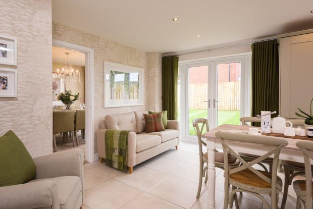 Family area and French doors