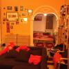 living room, alcove
