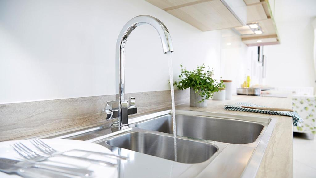 Stylish chrome taps new homes for sale