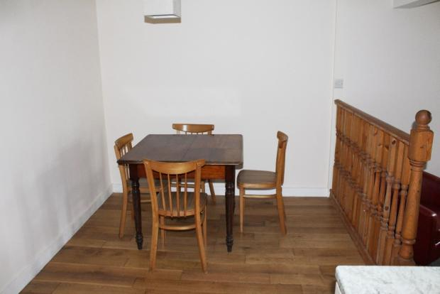 Flat dining area
