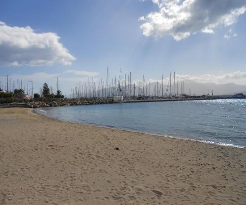 The sandy beach