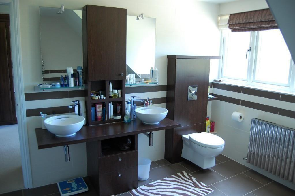 photo of black blue white bathroom ensuite ensuite bathroom