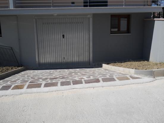 Garage below