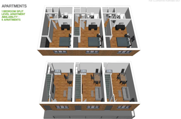 1 Bedroom Duplex Flo