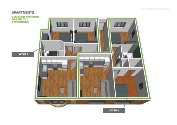 2 Bedroom Apartment.