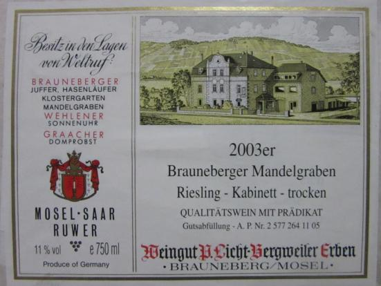 Old wine label
