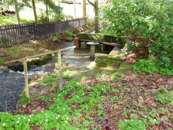 Seating by stream