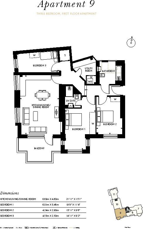 Floorplan Apt 9