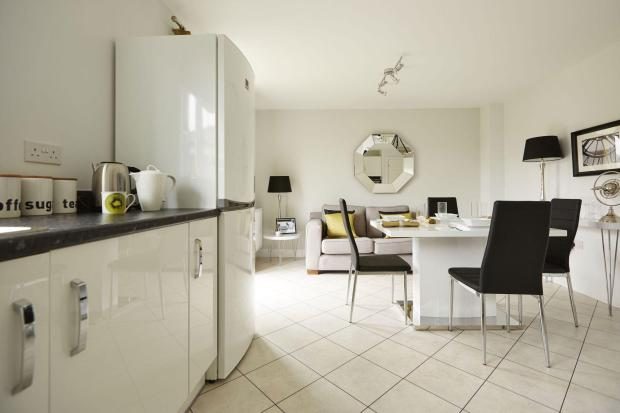 Typical Chesham kitchen and dining area