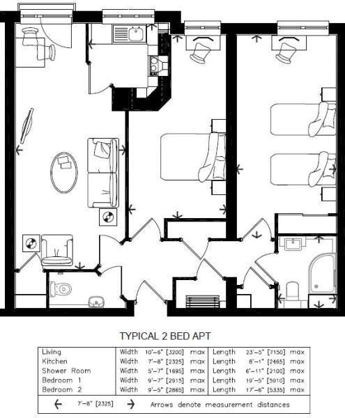 Typical 2 Bed Layout