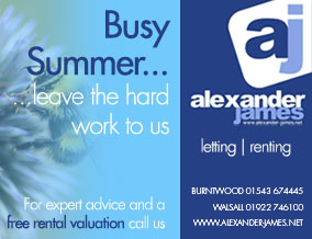 Get brand editions for Alexander James Property Services, Burntwood