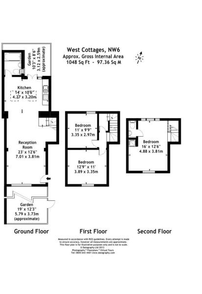 West Cottages floor
