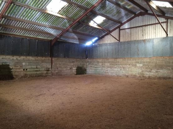 Inside Dutch barn