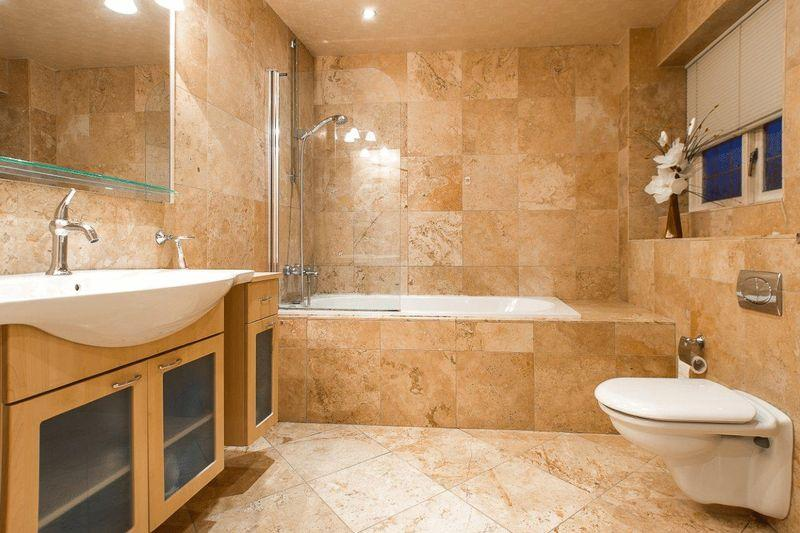 Fully tiled design ideas photos inspiration rightmove home ideas Beige brown bathroom design