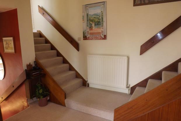 Split level hallway