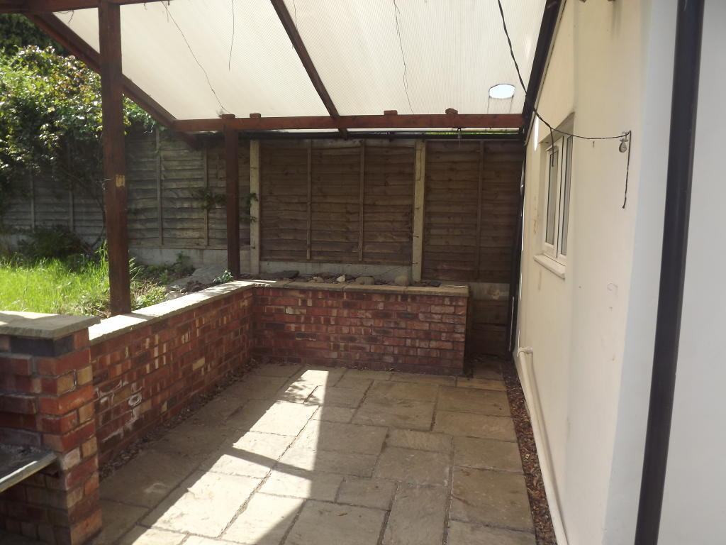 Covered area in garden