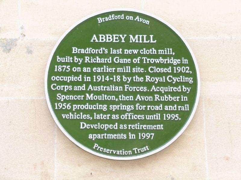 Abbey Mill Plaque