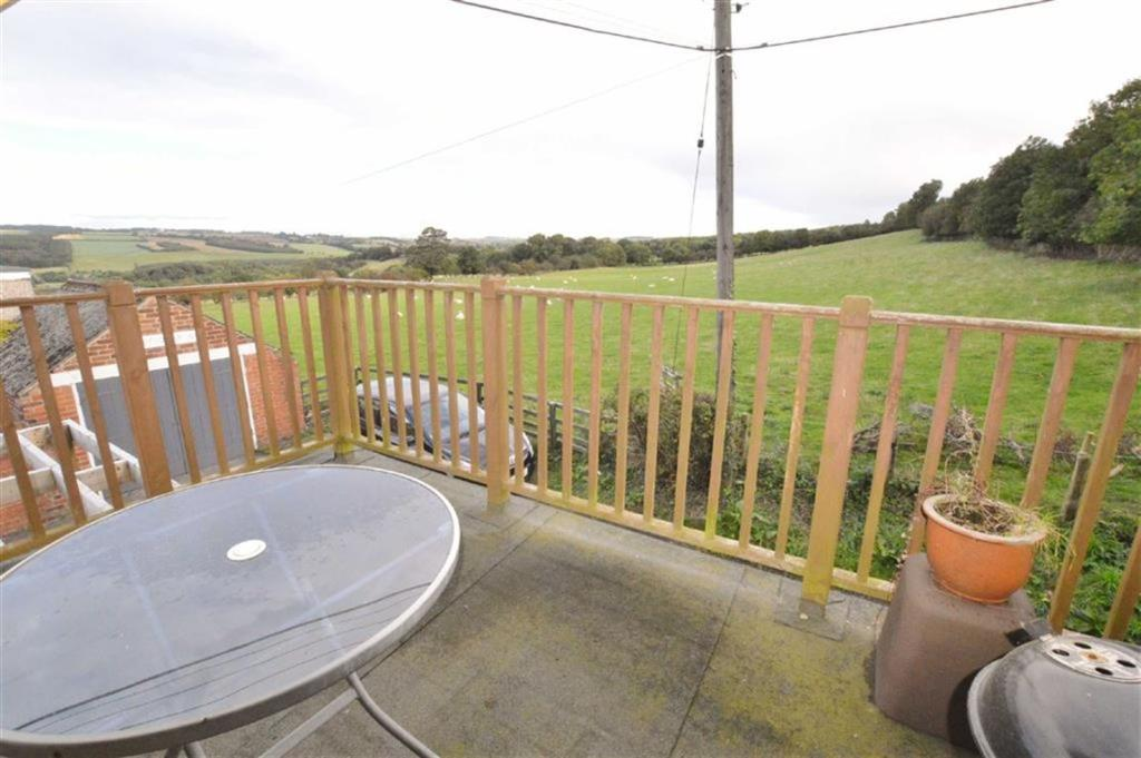 Balcony with railing