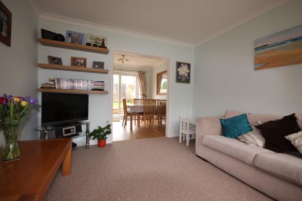 Living room through