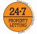 24.7 Property Letting, Hamilton logo