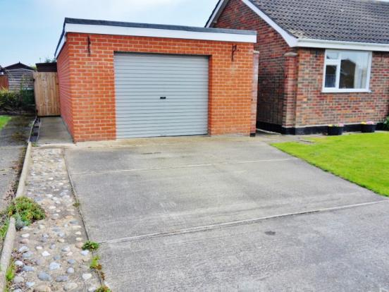 Purpose built garage