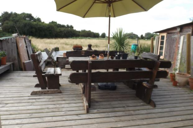 decking and view