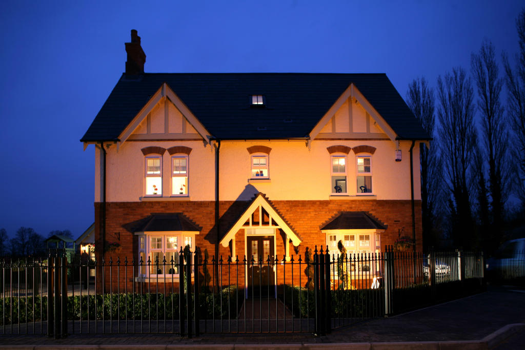 Showhome at night
